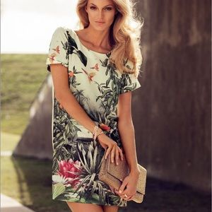 H&M Conscious Collection Tropical Bird Dress Wms 4